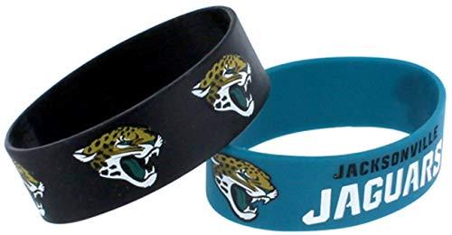 NFL Jacksonville Jaguars Silicone Rubber Bracelet, 2-pack