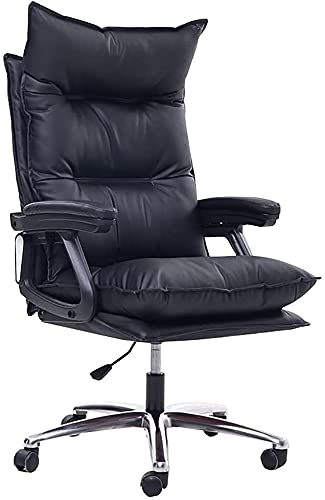 Swivel Adjustable Ergonomic Executive Office Chair for Living Stream Internet Celebrity Gaming Conference Boss Desk Computer Chair(Black)
