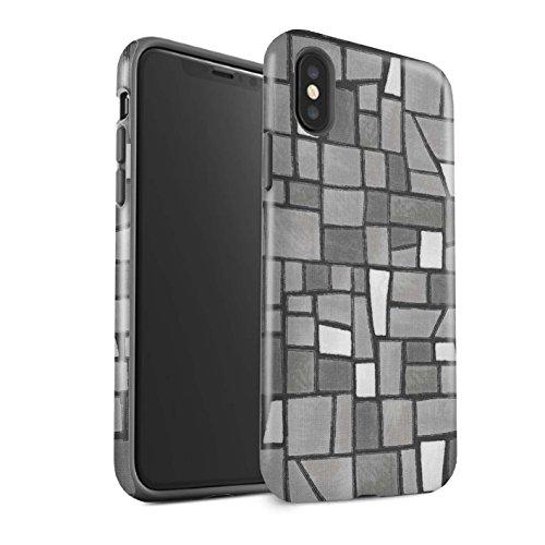 Stuff4 Telefoonhoesje/Cover/Skin/IP-3DTBM / Mozaïek Tegels Collectie Apple iPhone X/10 Grijs/Wit