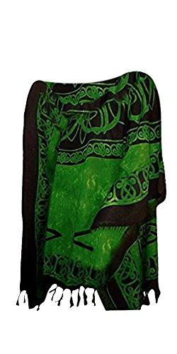 Cool Kaftans New Roman Summer Top Tunic Poncho Celtic Shirt Beach - Green
