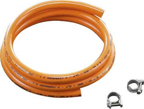 Guison Butane Tuyau et Ensemble de 2 poignées, 150 cm, Orange, Lot de 10