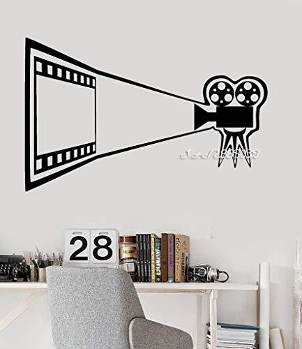 jiushivr Kino Vinyl wandaufkleber Kamera Theater Dekoration Zimmer wandaufkleber hohe qualität tapete abnehmbare d Poster 57x89cm