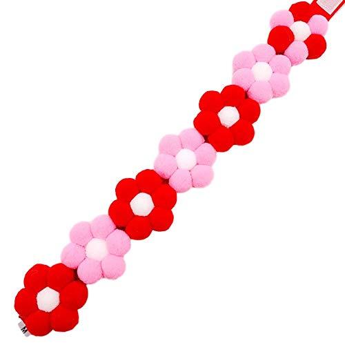 No branded Collar para Mascotas Shiba Inu Corgi Rainbow Flower Collar Ajustable Cat Dog Hair Ball Neck
