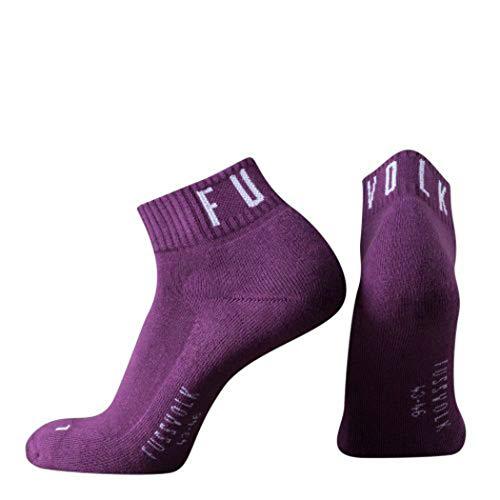 Fussvolk Quarter Socken uni purple Ankle Socks MADE IN GREEN Sportsocken lila, Size:39-42