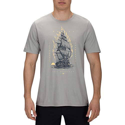 Hurley M Savage Ship Tee T-Shirts für Herren XL Fichte, Frosch