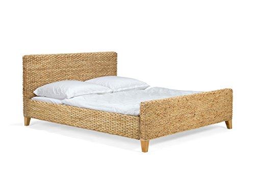 massivum Bett Nizza 140x200cm Wasserhyazinthe natur lackiert