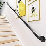Pasamanos escalera, PaNt 2m Barandilla acero inox Lámina de acero galvanizado resistente al desgaste y a la corrosión...