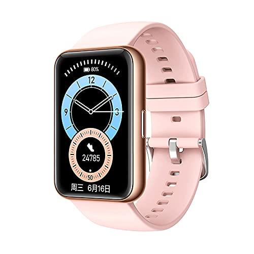 Smartwatch Reloj Inteligente con Pulsómetro Cronómetros Calorías Monitor de Sueño Podómetro Monitores de Actividad Impermeable Reloj Deportivo para Pulsera Música Llamadas Bluetooth ( Color : Pink )