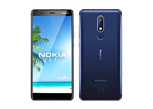 Nokia 5.1 5.5-Inch Android UK Sim-Free Smartphone with 2GB RAM and 16GB Storage (Single Sim) - Blue