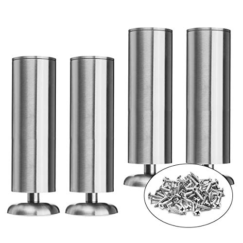 10 inch / 25cm Furniture Legs, La Vane Set of 4 Stainless Steel Cabinet Feet for Cupboard Sofa Kitchen Couch Bookcase