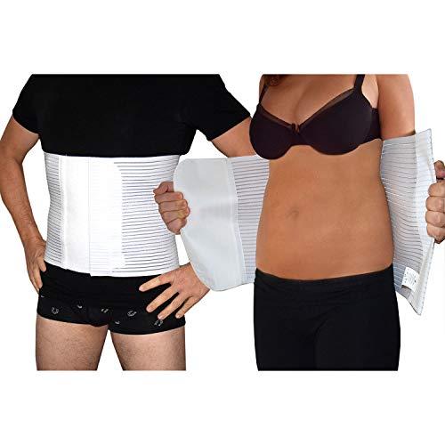 Faja abdominal postoperatoria unisex de contención postparto operación alivio del dolor de espalda cierre de velcro ajustable H 27 🔥