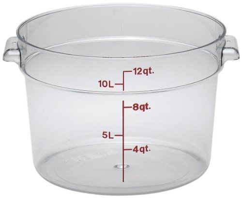 Cambro Round Storage Container, 12 quart, Clear