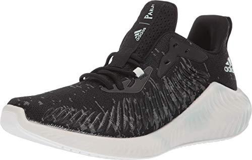 adidas Alphabounce+ Parley Running Shoe, Black/Linen Green/White, 10 M US