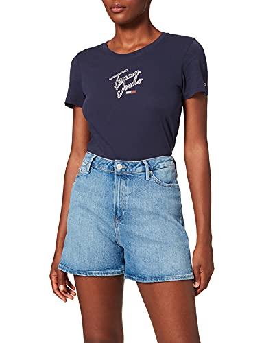 Tommy Hilfiger Rome Straight HW JUL Short Pantalones Cortos, Denim, Ni31 para Mujer