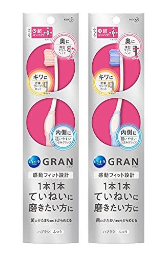 ピュオーラ GRAN ハブラシ ていねい磨き ふつう 1本 (※色は選べません)