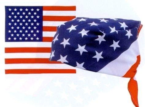 USA American Flag Bandana Sjaal - 55 cm x 55 cm - Motorfiets, Biker, Landelijk, Vintage, Mode