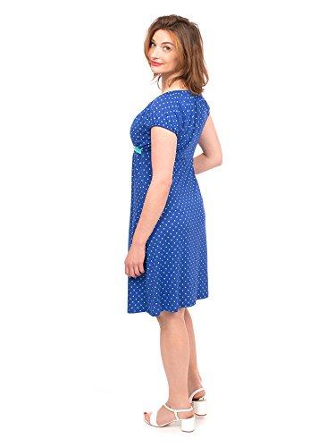 Viva la Mama I blaues Umstandskleid Stillkleid Sommer Schwangerschaftskleid Umstandsmode festlich Damen I ELLI – Kobaltblau Herz - 4