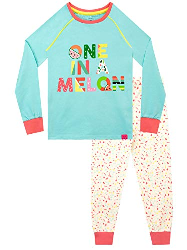 Harry Bear Pijamas para niñas Melon Tropical Ajuste Ceñido Azul 11-12 Años