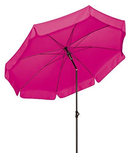 Doppler Absolut wetterfester Gartenschirm Sunline 150 Fuchsia, UV-Schutz 50 Plus und Knicker,