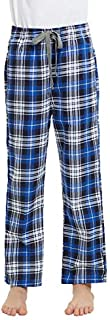 Image of Cotton Flannel Blue Plaid Pajama Pants for Boys - See More Colors