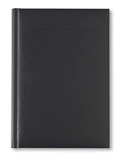 Terminkalender 2021 - Kunstleder - Alpha Edition - 352 Seiten - schwarz - Edition 2021 - A5