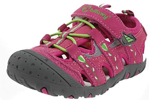 Billowy 6387c30 Leder Sandalen pink, Groesse:25.0