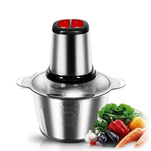 Zerkleinerer Universalzerkleinerer mit 2L/3L Edelstahlschüssel, Elektrisch Multizerkleinerer, Fleischwolf mit 4 Klingen für Fleisch, Zwiebeln, Obst, Gemüse,3L