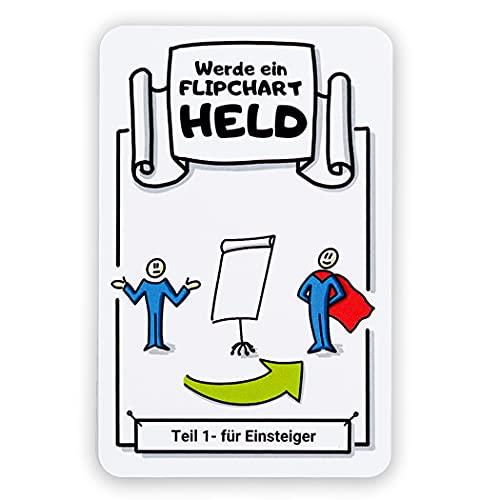 Flipchart Karten Set | Werde ein Flipchart Held | 32 Karten | Schritt-für-Schritt Anleitungen | Zeichnen lernen für Erwachsene auf Flipchart Papier