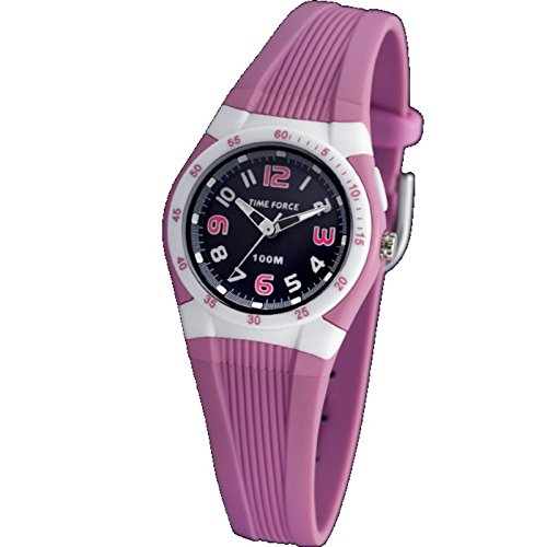 TIME FORCE TF-3388B06 - Reloj de Pulsera, Correa de Caucho, Color Rosa