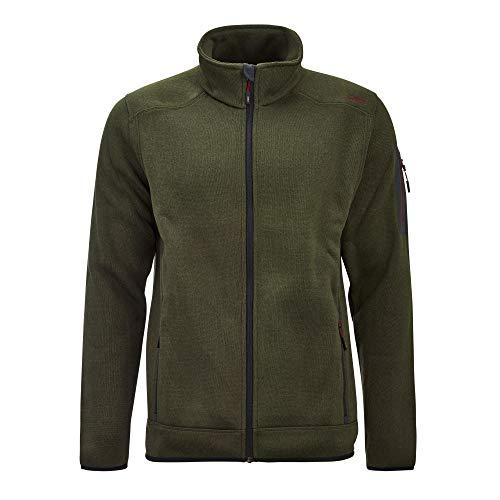 CMP – F.LLI Campagnolo Herren Knit Tech Polyester-Strickfleecejacke Fleecejacke, Oil Green-Burgundy, 56