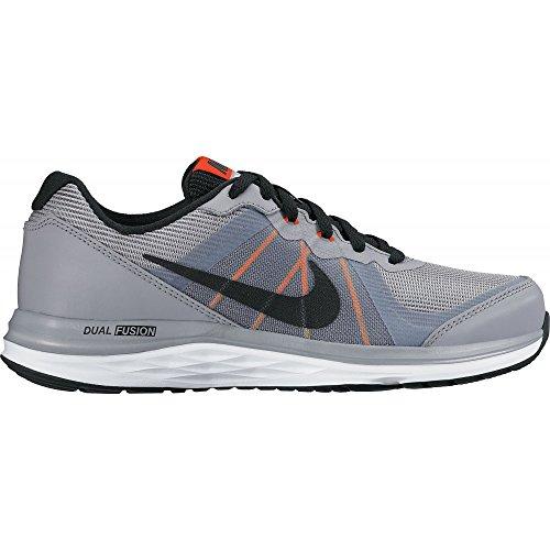 Nike Dual Fusion x 2 (GS), Scarpe da Running Bambino, Nero/Bianco/Arancione (Negro Negro Stealth Black White Total Orange), 35.5 EU