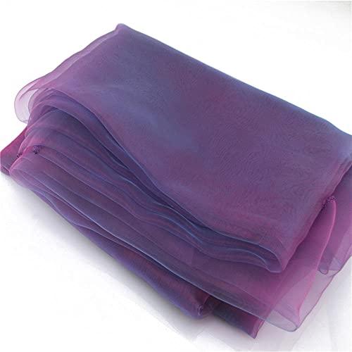 YYFTT Manteles para Fiestas 35X 5 M / 10 M Piso De Boda Sheer Swag Tela Escalera Pasamanos Decoración Cumpleaños Fiesta De Bienvenida Al Bebé Banquete DIY Decor-Purple_1.35X5M