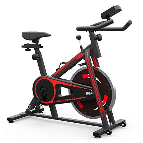 Aparatos Gimnasia para La Reducción Peso En El Hogar, Bicicleta Estática, Bicicleta Gimnasio Bicicleta, Asiento Ajustable Y El Manillar, Portavasos Y Led Display,Rojo