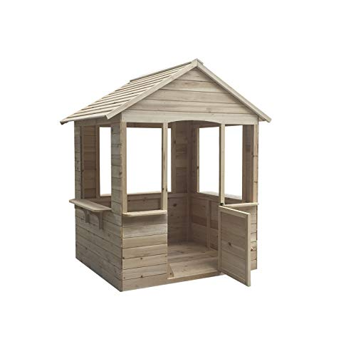 Outdoor Toys Casita ADELE. Dimensiones 120 X 108 X 138 cm, Madera de Pino, multicolor (Kovyx Outdoor Amazon ES KNH1000)