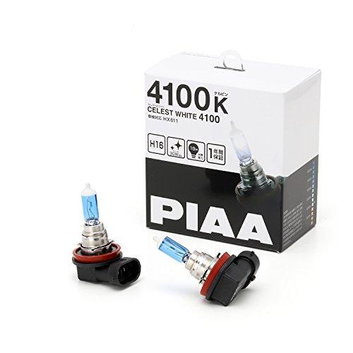 PIAA ハロゲンバルブセレストホワイト 4100K H16 12V19W 2個入り HX611