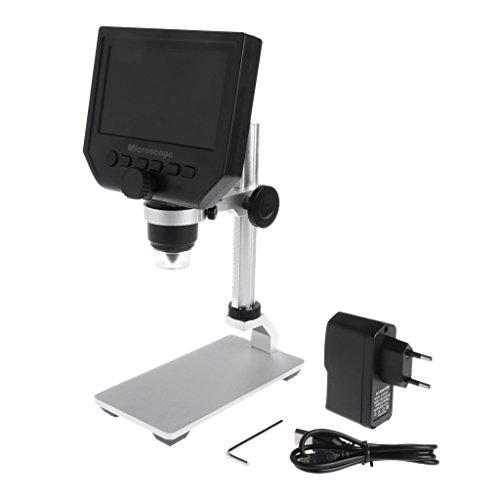 Hardware Pinhaijing G600 4.3' LCD Digital Microscope LED Zoom 1-600X 3.6MP Camera Video Recorder