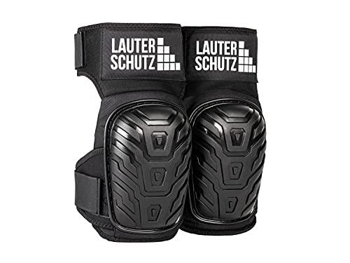 LauterSchutz® Komfort Knieschoner mit 2-Zonen-Gelkissen Technologie und Schaumstoffpolster, für Profi Handwerker und Heimwerker, mit verlängertem Gurt am Oberschenkel für perfekten Halt und Komfort