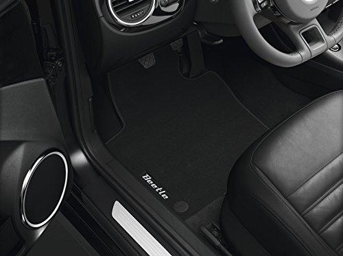 Volkswagen Original Premium Velours Fußmatten mit Schriftzug VW Beetle (5C) 4-teilig schwarz (A - Schriftzug Beetle)