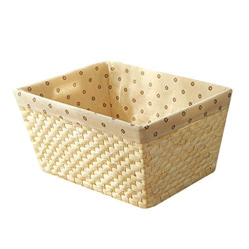 Storage Box Boîte De Rangement, Panier De Rangement De Bureau, Série De Rangement Intérieur pour Le Bureau, Matériel De Sécurité 100% (Color : Blanc, Size : 40cm*30cm*20cm)