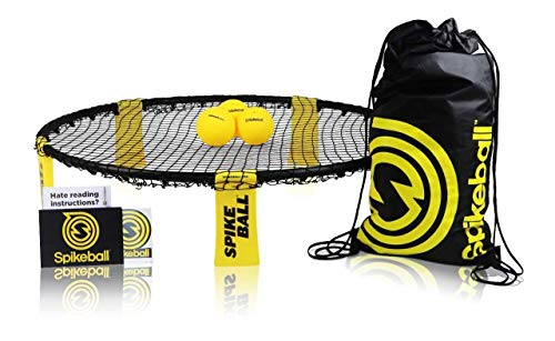 Spikeball 3 Ball Kit - Play Indoors or Outdoors - Includes Playing Net, 3 Balls, Drawstring Bag, Rule Book