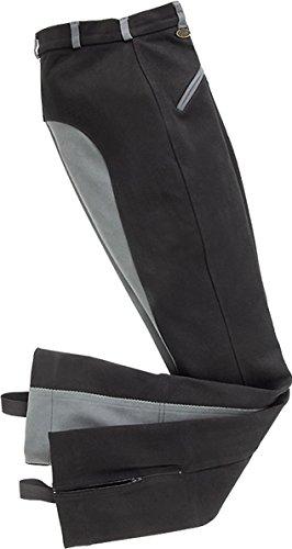 USG Damen Jodhpur Reithose Birgut mit Leder-Vollbesatz, zwei Vordertaschen mit zusätzlichem Reißverschluss
