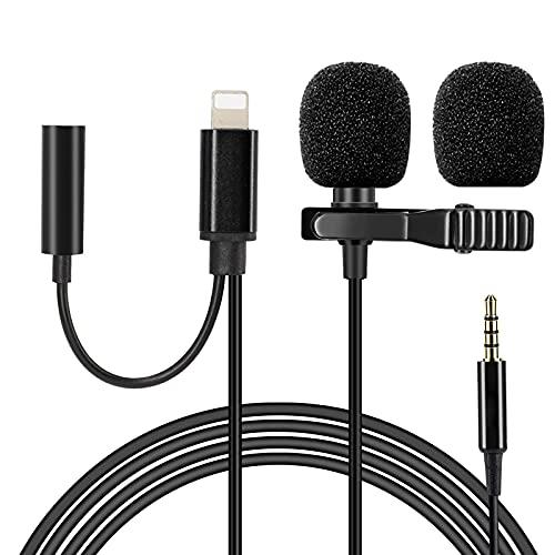 Microfono Lavalier 1.5m,Microfono Condensatore Omnidirezionale con Jack
