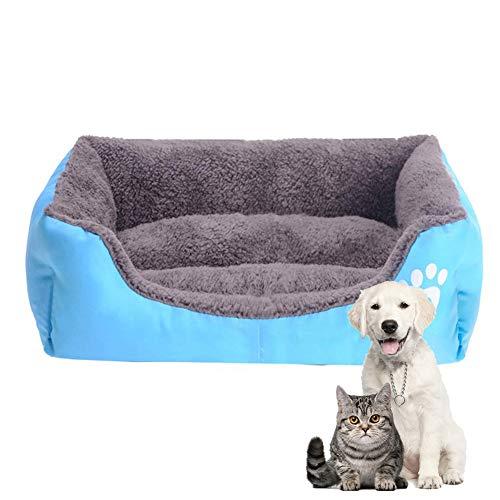 HIMA PETTR Deluxe Huisdier Nest, Afneembaar Wasbaar Slaapbank voor Honden Geschikt voor Kleine Honden, Blauw