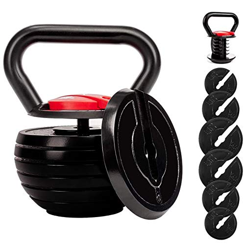 shanchar Kettlebell,Adjustable Kettlebell Set,Strength Training Kettlebells 10 15 20 25 30 35 40 Lb,Great Assistant for Home Office Fitness.
