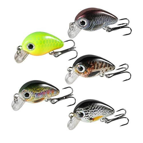 Magreel Crankbaits Set di Mini Esche da Pesca VIB, Kit di Esche galleggianti per Pesca alla Trota,...