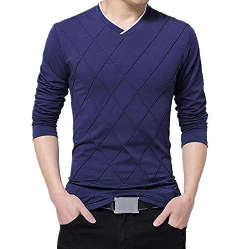 Camiseta para hombre Slim Fit Camiseta Pliegue, tamaño grande