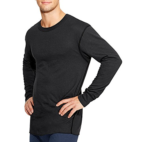 Duofold by Champion by Thermals Men's Long-Sleeve Base-Layer Shirt_Black_2XL