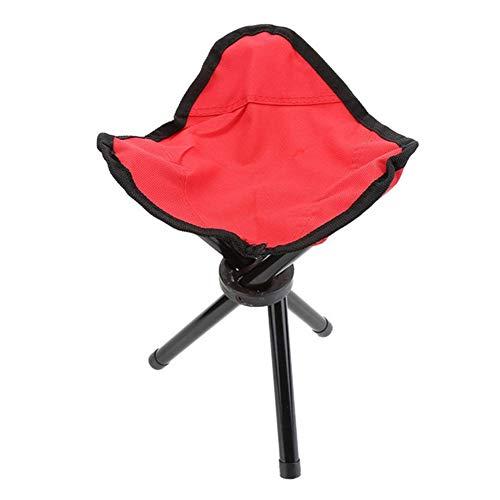 qidongshimaohuacegongqiyouxiangongsi angelausrüstung Gartengrill Picknick Angeln Fuß dreibeinigen Stuhl Angeln Stuhl Klappstuhl im Freien Wandern Campingstühle (Color : B)