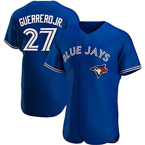 JFIOSD 2021 Blue Jays #27 Versión Elite Baseball Fan Jersey,Baseball Fan Jersey,Hombre Mujer Verano Deporte Respirable Camisa,(S-3XL),Azul,S
