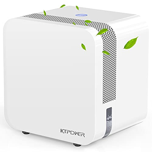 KTPDWER Upgraded Dehumidifiers for Home 2500 Cubic Feet (280 sq ft), 35oz Dehumidifiers with Two Working Mode, Portable and Quiet Dehumidifier for Bathroom, Bedroom, Kitchen, RV, Auto Shut off